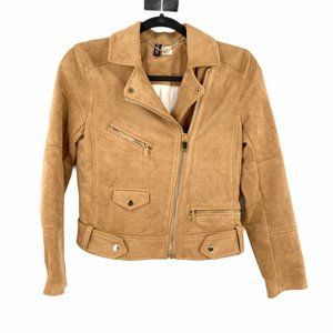 Divided H&M Faux Suede Bomber Jacket Size 2